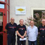 La société Colas du Pouzin rejoint les employeurs partenaires de sapeurs-pompiers volontaires