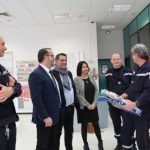 Laurent Ughetto et Hervé Saulignac rendent visite à l'équipe de garde du CRTA/CODIS