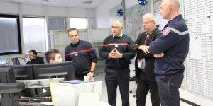 Le sous-préfet de Tournon-sur-Rhône en visite de courtoisie à la direction départementale des services d'incendie et de secours