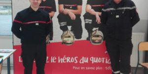 Les sapeurs-pompiers de l'Ardèche présents au Forum de la sécurité organisé par le lycée Marius Bouvier de Tournon-sur-Rhône