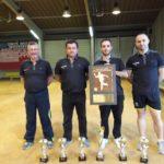 Les sapeurs-pompiers de l'Ardèche sur la première marche du podium aux Championnats de France de boules lyonnaises à Toulouse