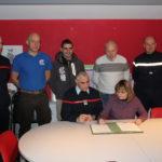 Employeur, employés et représentants du SDIS cher Lacrotte SARL à Vals-les-Bains