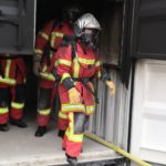 Un nouvel outil pédagogique pour l'entraînement feu réel est installé au centre de formation d'incendie et de secours