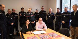 13 employés de la société Chomarat Textiles Industries du Cheylard bénéficient de disponibilités pour leur engagement de sapeur-pompier volontaire