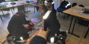 1er stage bi-départemental de protocoles infirmiers de soins d'urgence pour 9 ISP ardéchois et drômois cette semaine à l'école  départementale du SDIS 26.