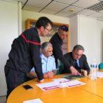 Visite protocolaire de Patrick Leverino, sous-préfet de Largentière