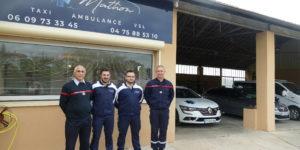 La société «Taxis Mathon» de Joyeuse devient employeur partenaire des sapeurs-pompiers de l'Ardèche