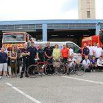 Les Roues du Cœur font étape au centre d'incendie et de secours de La Voulte-sur-Rhône