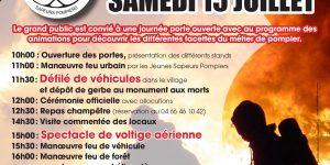 Samedi 15 juillet, le centre d'incendie et de secours de Coucouron fête ses 70 ans