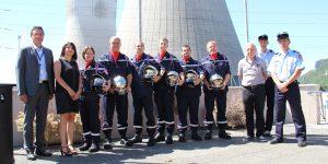 La création d'un poste incendie renforce le partenariat entre le SDIS de l'Ardèche et la centrale EDF de Cruas-Meysse