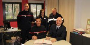 Le lycée des métiers de l'hôtellerie et de la restauration innovante de Largentière devient un employeur partenaire des sapeurs-pompiers de l'Ardèche