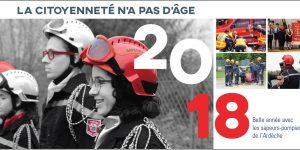 Les sapeurs-pompiers de l'Ardèche vous souhaitent une Bonne Année 2018