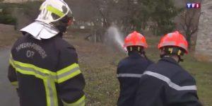 Les jeunes sapeurs-pompiers de Saint-Cirgues-en-Montagne au JT du 13 h de TF1 du 28 février