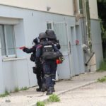 Les sapeurs-pompiers de l'Ardèche au plus près du dispositif de sécurité pour sa mission de secours dans le cadre de l'exercice NOVI Attentat