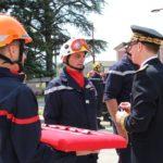 Hommages rendus aux sapeurs-pompiers lors de la journée nationale à Cruas