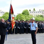 Une délégation des sapeurs-pompiers de l'Ardèche présente à la cérémonie de l'hommage national aux sapeurs-pompiers de France à Paris